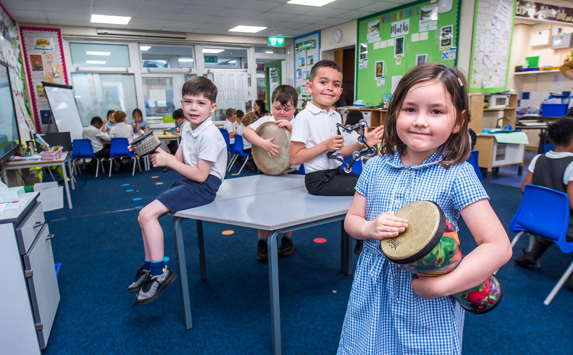 LKS2 children playing
