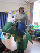 Staff member on World Book Day