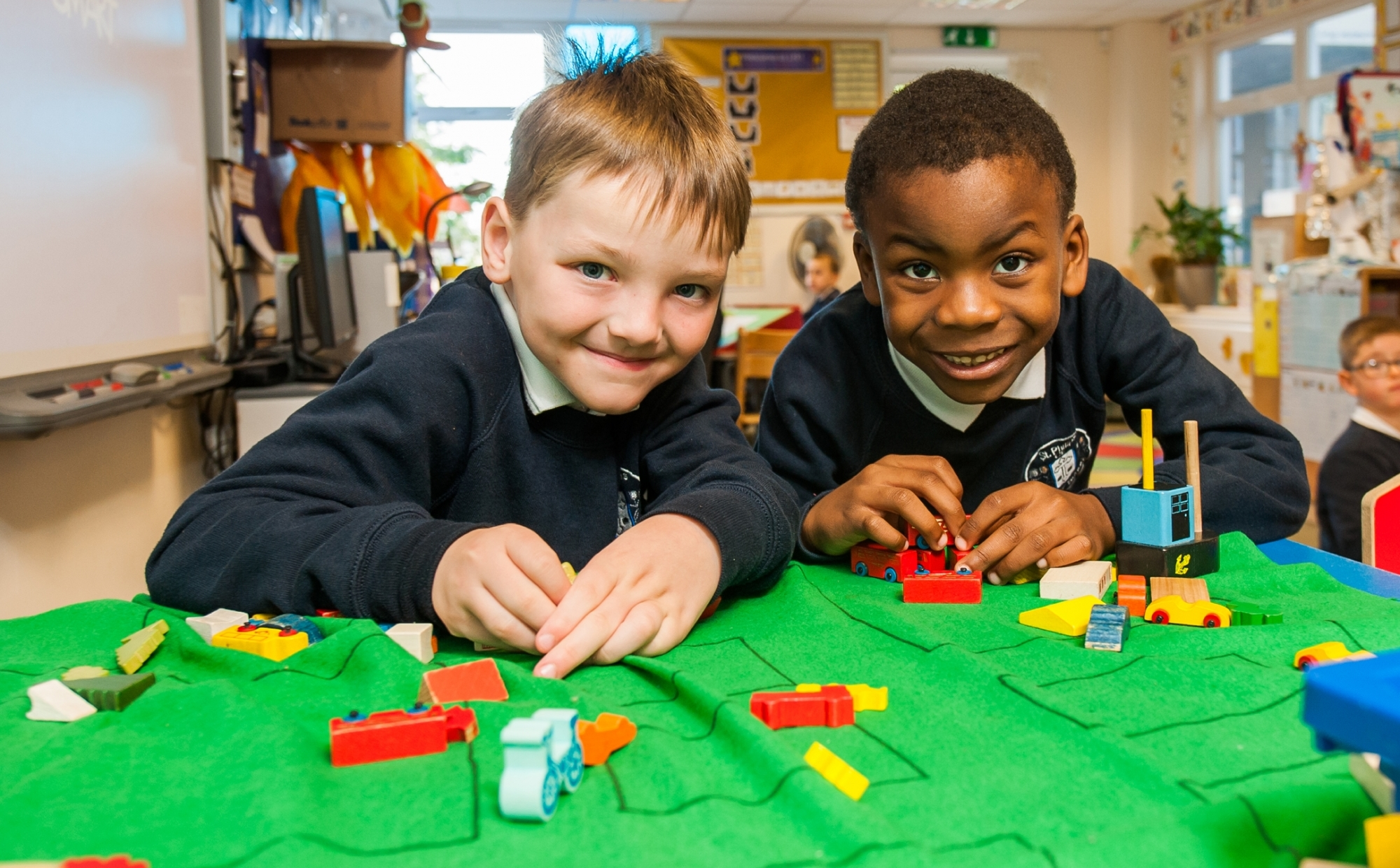 Pupils in a classroom at St Philip's CE Primary School