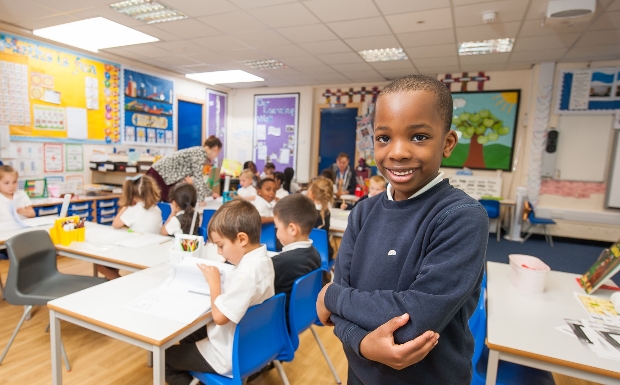 Pupils in a lesson at St Philip's CE Primary School