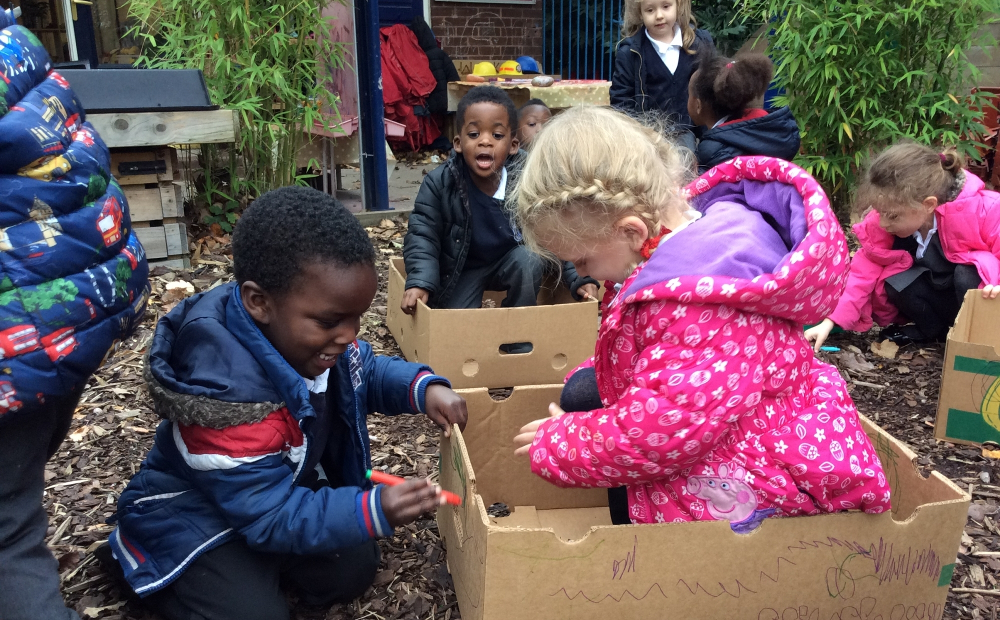 Nursery children playing