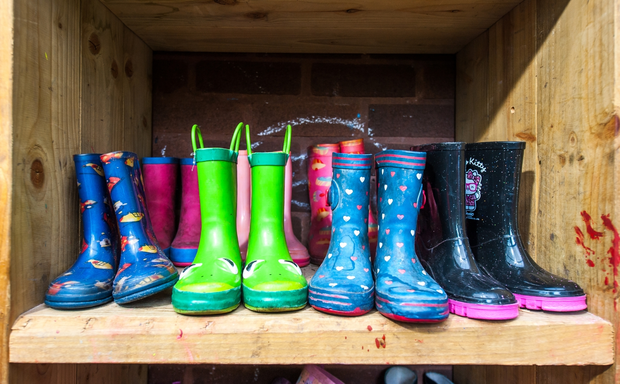 Wellington boots at St Philip's CE Primary School